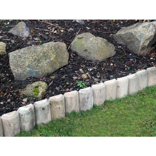 log roll 1.8m flower edge. outdoor garden path edging 6 lawn border wood