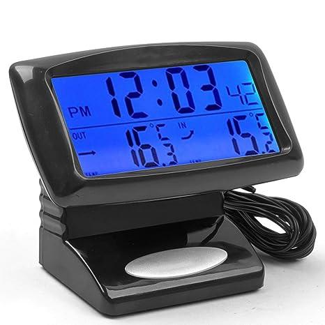 E-Prance - Reloj digital para coche (termómetro, indica la temperatura máxima y