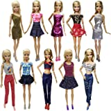 b0b3ff6c56d Nounita 3 Sets Clothes Doll Dress Clothing Outfits Costume Compatible with  11.5 inch Dolls