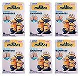 Despicable Me Minions Bandages, 3/4'' X 3'' Twenty Count Per Box-120 Total Bandages