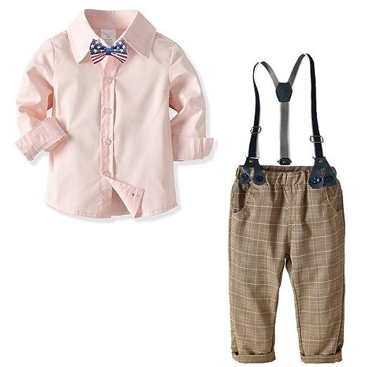 Weentop Niños Niños Ropa Conjuntos Pajaritas Camisas Tirantes ...