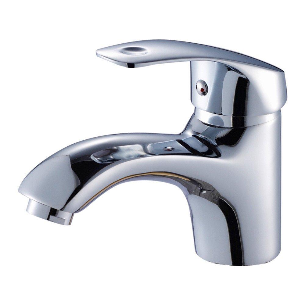 MMYNL TAPS MMYNL Waschtischarmatur Bad Mischbatterie Badarmatur Waschbecken Antike Alle Kupfer Einzigen Griff Einzelne Bohrung Heiße und Kalte Cabinet Badezimmer Waschtischmischer