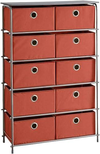 BrylaneHome Eve 10-Drawer Storage, Terracotta