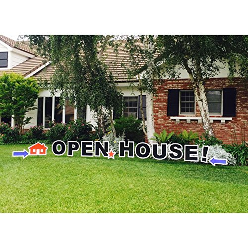 Open House! Outdoor Yard Sign Announcement, Individual Letters Measure 18 Inches in Height and come with Easy to Install Stakes, Perfect for Selling Your Home
