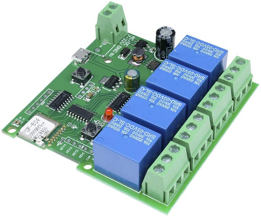 HUAZHU SLA-05VDC-SL-A 5V 30A Relay Module High Power for Arduino AVR PIC DSP ARM,4 Channel WiFi Relay