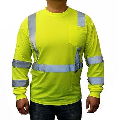 Amazon.com: 3C Products Men's Long Sleeve Safety T-shirt: Clothing