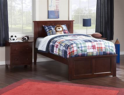 Atlantic Furniture Eco Friendly Twin XL Bed (Walnut Finish)