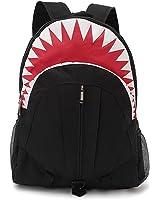Shark Canvas Backpack,Unique Design Boy 3D Shark Mouth Cartoon Rucksack