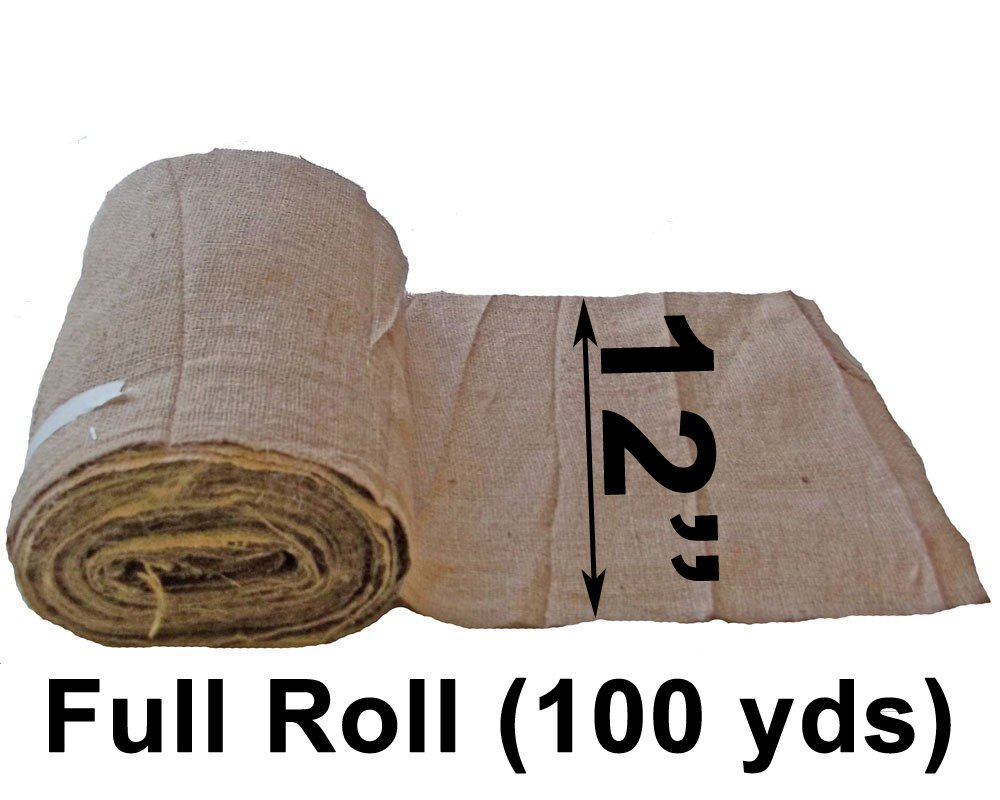 12 Wide Burlap Fabric (100 Yard Roll)