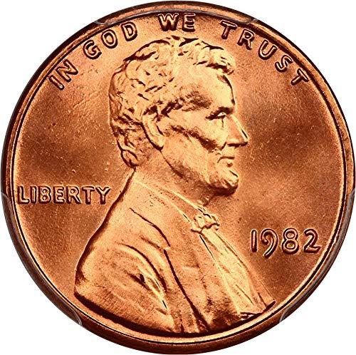 (1982 P Lincoln Cents Zinc Large Date Cent MS67 PCGS+ RD)