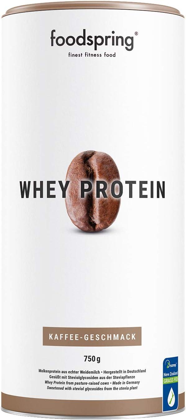 foodspring Proteína Whey, Sabor Café, 750g, Fórmula en polvo ...