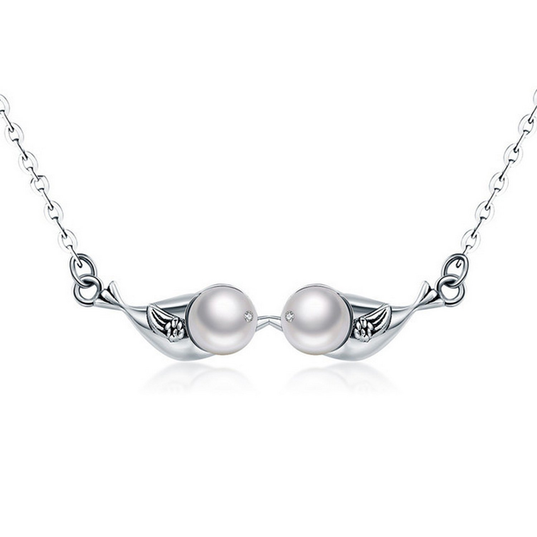 CS-DB Pendants Inseparable Wings Silver Necklaces