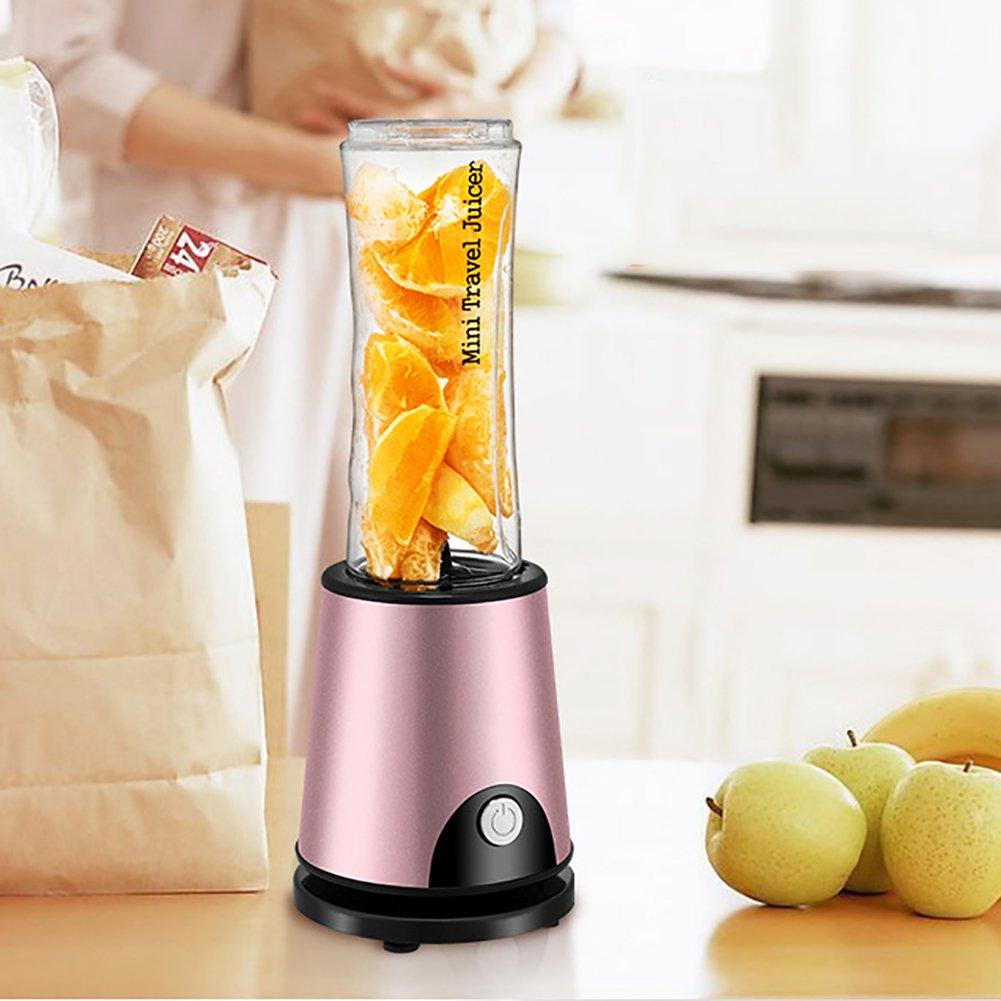 Portable Juicer Cup,Personal Blender,Household Fruit Mixer, With Travel Sport bottle, Mini Fruit Juice extractor-Rose gold SL&VE