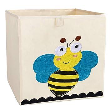 Caja de Almacenamiento Niños Juguetes Cofres Organizador para niños Dormitorio (Abeja)