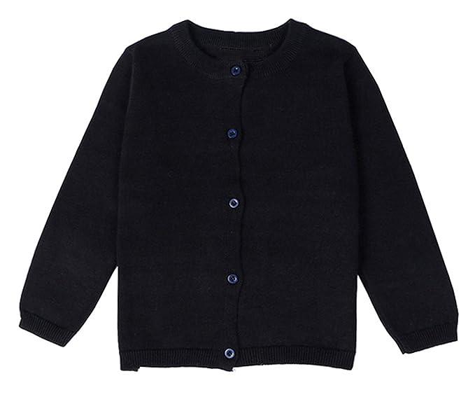 1642bf67f30f Amazon.com  lymanchi Little Girls  Long Sleeve Cardigan Button ...