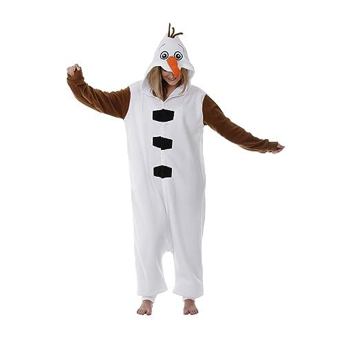 Pyjama une pièce inspiré de la Reine des Neiges, Bonhomme de neige Olaf, Combinaison unisexe