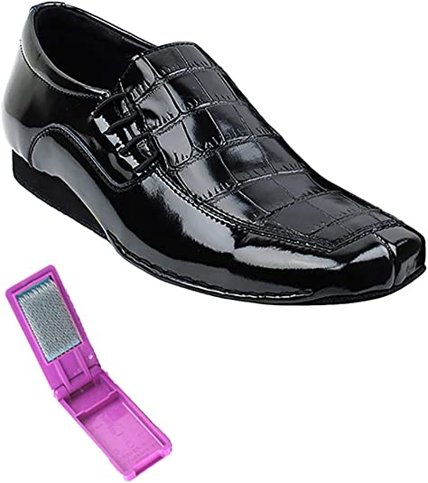 Flate Heel Very Fine Ballroom Latin Tango Salsa Dance Shoes for Men SERO102BBX Leather