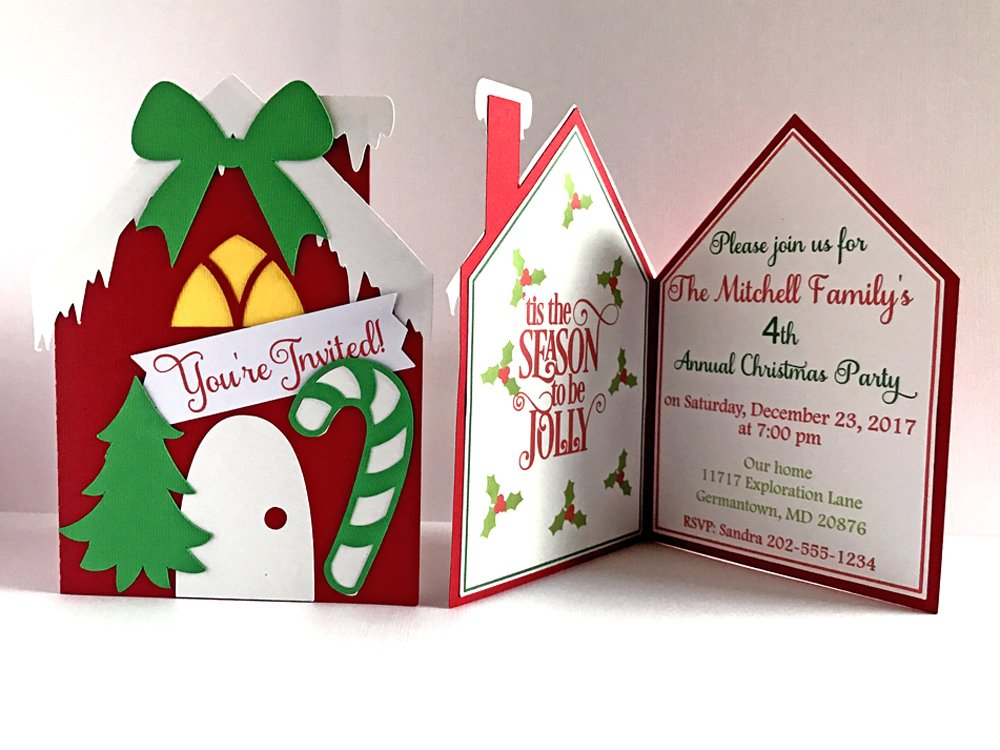 Christmas Party Invitations Holiday Invites Office Dinner Xmas Birthday Announcement