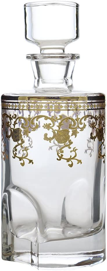"""(D) Decanter for Whisky/Scotch with Floral Pattern 9""""H, Premium Quality Lead Free Glassware 61uP0fxDjBL"""