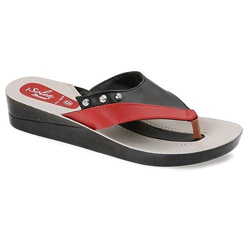 0f22850c305 PARAGON SOLEA Women s Purple Flip-Flops  Buy Online at Low Prices in ...