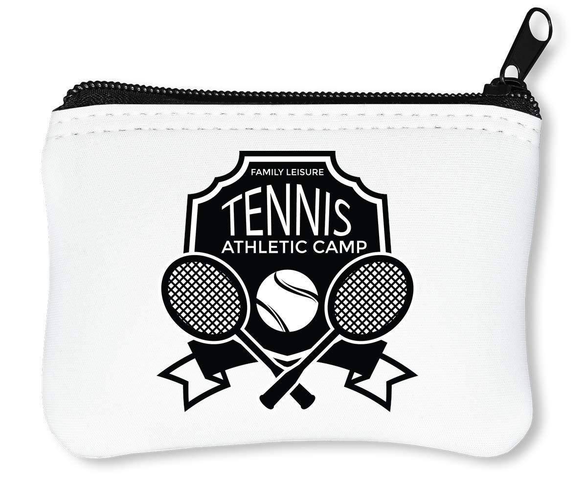 Sport Badge Tennis Athletic Camp Billetera con Cremallera ...