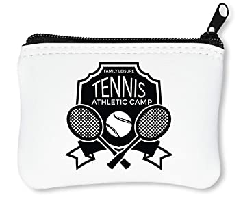Sport Badge Tennis Athletic Camp Billetera con Cremallera Monedero Caratera: Amazon.es: Equipaje