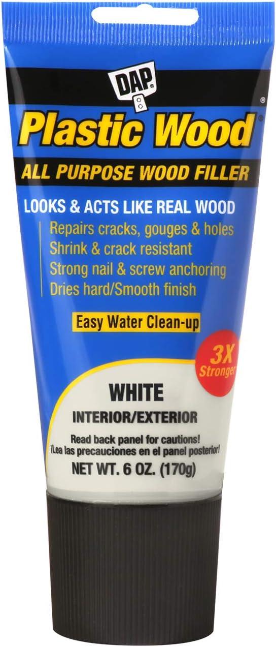 7. DAP 00585 Latex All-Purpose Plastic Wood Filler, 6 Oz.