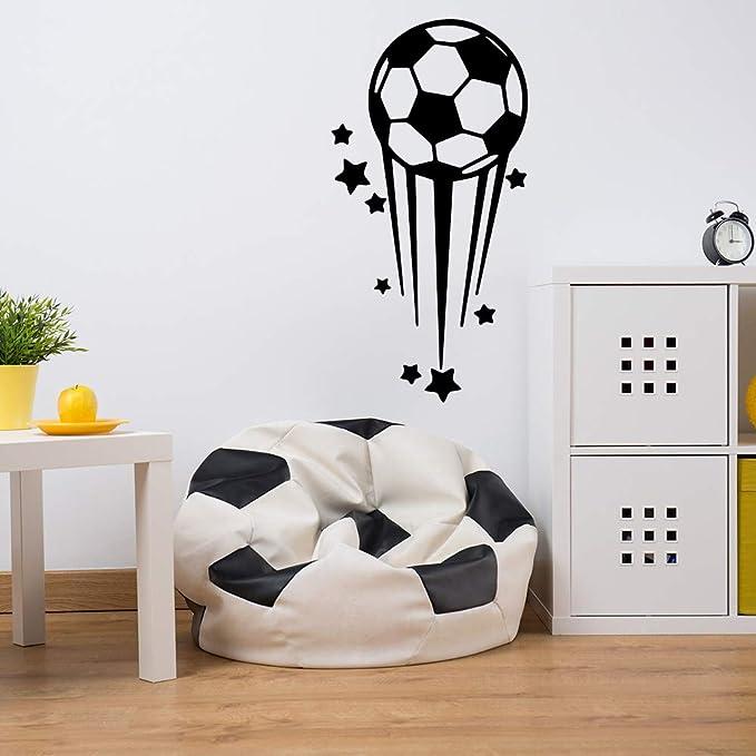 zaosan Estrellas de Dibujos Animados de fútbol Etiqueta de la Pared de Vinilo Arte de la Pared Pegatinas niños Sala de Estar Sala de Estar decoración para el hogar calco: Amazon.es: Hogar