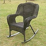 International Caravan 3182-1CH-AB-IC Furniture Piece Camelback Resin Wicker Rocker