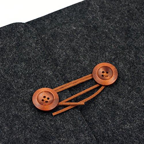 ff8b01f359f2 BURUIS Felt Laptop Sleeve Bag,Slim Envelope Case Inner Bag,Carring ...