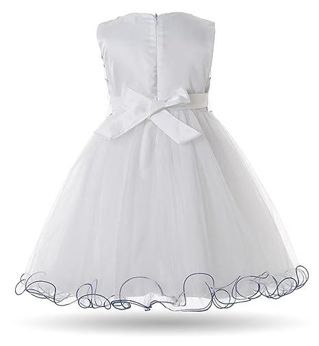CIELARKO Baby M/ädchen Kleid Prinzessin Kleinkind Blume Taufkleid Festzug Hochzeits Kleidung 3-24 Monate