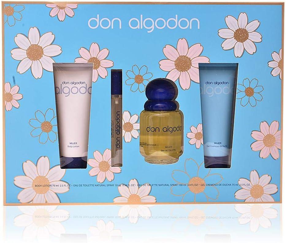 Don Algodon Set de Regalo - 4 Piezas: Amazon.es: Belleza
