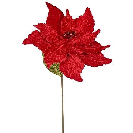 Amazon vickerman qg162703 poinsettia with 12 flower head vickerman qg162703 poinsettia with 12quot flower head paper wrapped wire stem in 6 mightylinksfo
