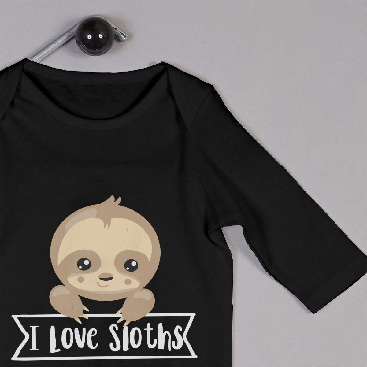 Toddler Round Collar I Love Sloths Long Sleeve Playsuit 100/% Cotton Suit 6-24 Months