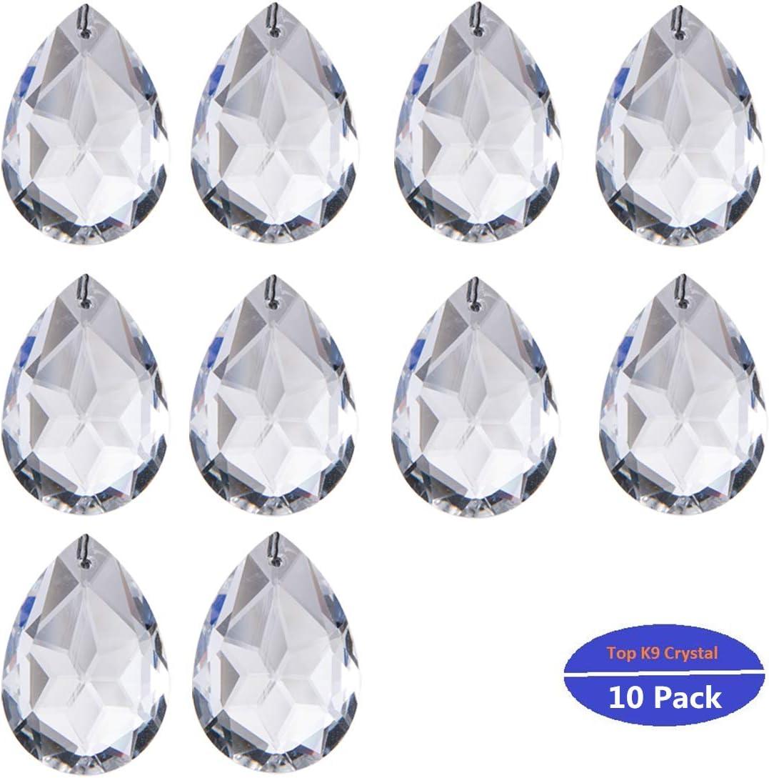 10Pcs Clear Glass Crystal Prisms Chandelier Pendant Light