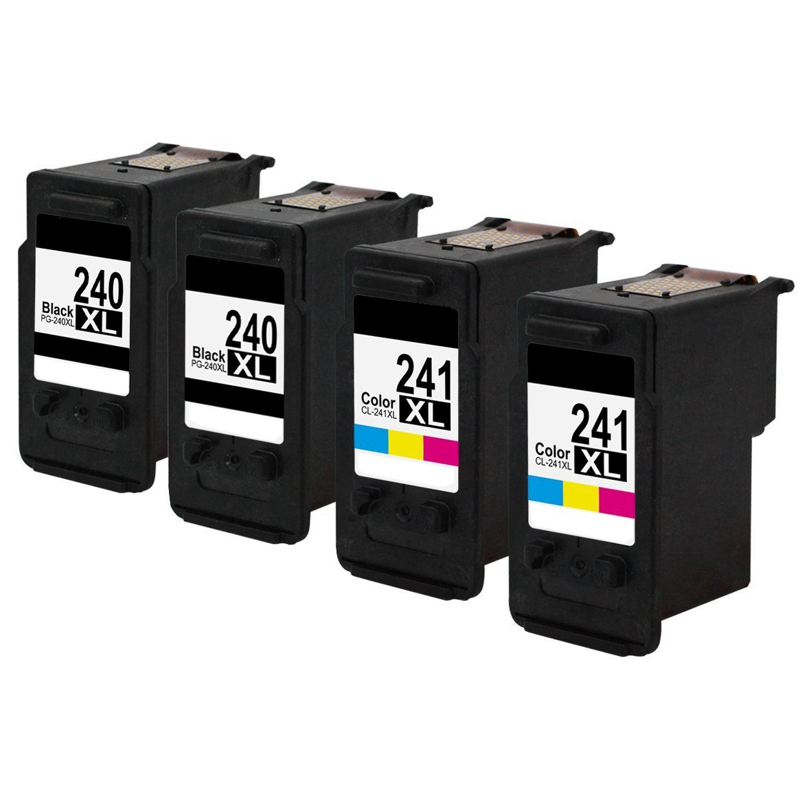 Bosumon PG-240XL CL-241XL Remanufactured Ink Cartridge Replacement For Canon High Yield 5206B005 5206B001 5208B001 Compatible With PIXMA MG2120 MG2220 MG3120 MG3122 MG3222 Printer (1 BLACK, 1 COLOR)