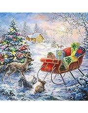 20 servetten bosdieren bestaunen kerstcadeaus | winter | Kerstmis | tafeldecoratie 33 x 33 cm