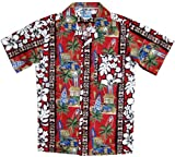 RJC Boys Surfboard Woodie Shirt in Red - 18