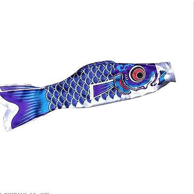 Detectorcatty New 5 Colors 55cm Waterproof Japanese Carp Windsock Streamer Hanging Fish Flag Decor Kite Koinobori for Children: Garden & Outdoor