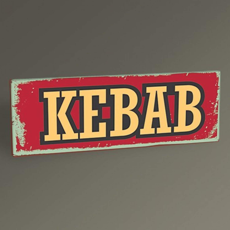 Pizarra Cartel Vintage Kebab, 50 x 150 cm: Amazon.es: Hogar