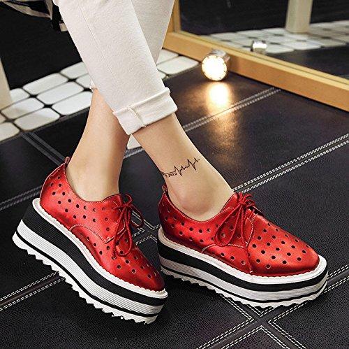 scarpe Thirty Donyyyy donne singola quattro Calzatura calzatura libero six aumentano tempo le di donna per le stagioni il xPRCq