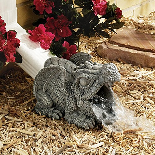 - Design Toscano Darian The Dragon Gutter Guardian Downspout Extension Statue, 9 Inch, Polyresin, Full Color