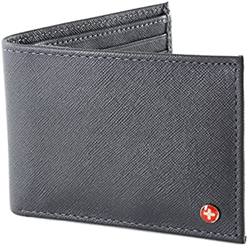 Alpine Swiss Men's Leather Bifold Wallet