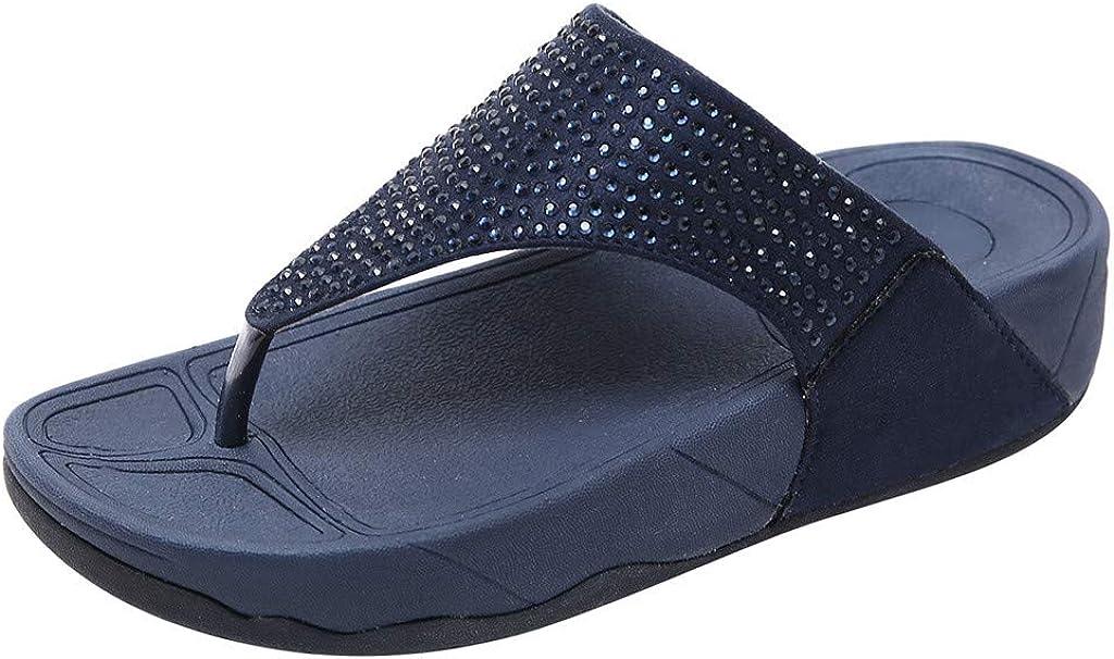 Ladies Cushion Walk Faux Leather Floral Toe Post Slip On Flip Flops Flat Sandals