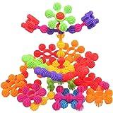 MICHLEY Interlocking Building Blocks Soft Sunflower Blocks Building Games for Kids