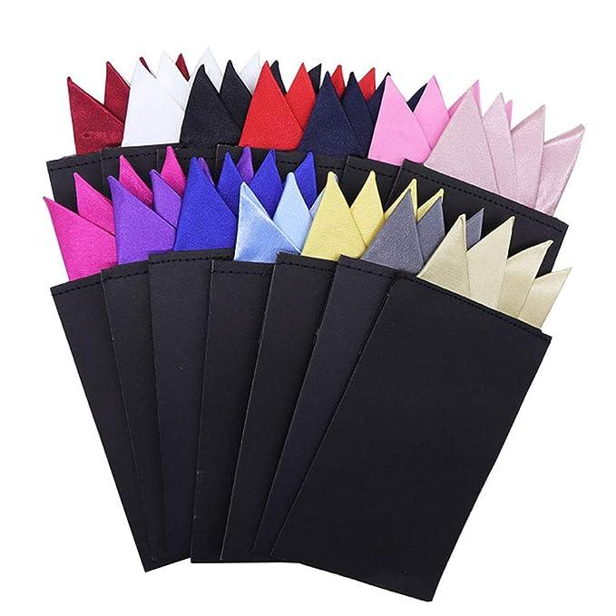 Amazon.com: 8 piezas de pañuelos cuadrados de bolsillo para ...