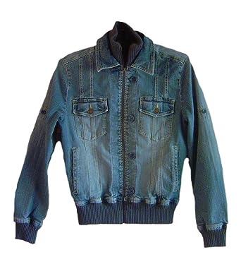 buy popular c6747 4d48f Ming-Jeans Damen-Jeans-Jacke starker Used-Look mit ...
