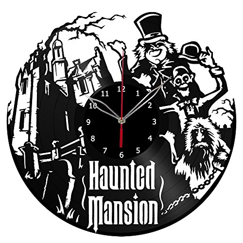 Haunted Mansion Clock - Haunted Mansion Vinyl Record Wall Clock Fan Art Handmade Decor Unique Decorative Vinyl Clock 12