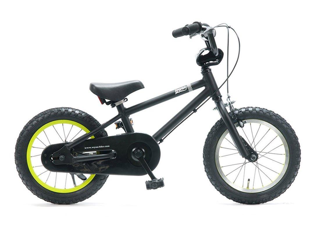 Wynn 14インチ BMXスタイル@25920 14inch STRIDERの次に(キックスタンドは付属しません) 【3歳~6歳向け】【キッズ ジュニア用】【 自転車 サイクル 】 B07C1SN1P4 BLACK BLACK