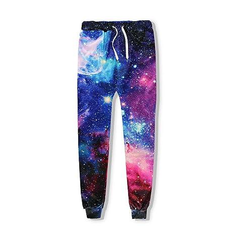 Fashion Casual Hosen Männer Jogger Hose Galaxy Space Nebula 3 D Drucken Schweiß Hip Hop Fitness Trainingshose